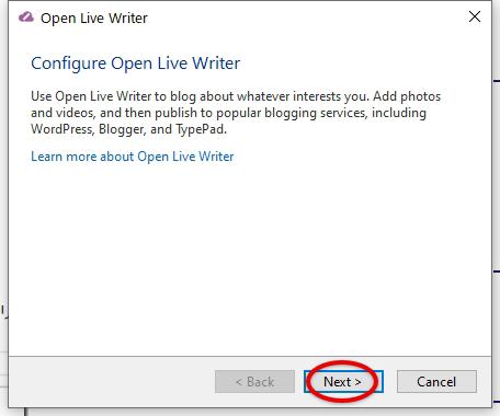 Open Live Writeーインストール